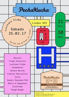 We designed the poster and will participate on PechaKucha Night Lisbon Vol.23