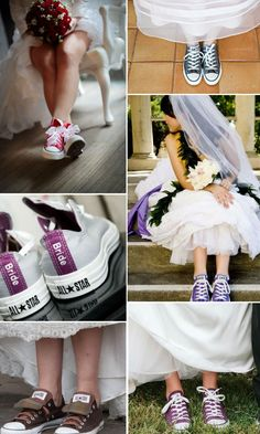 Converse All Stars mood for a wedding / chuck berries for the bride
