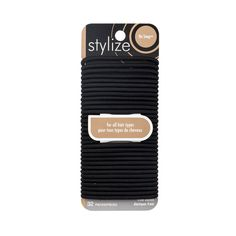 Shop for No Snag Elastics, Black by Stylize Luxury Beauty, Hair Ties, Metal, Hair Accessories, Shop, Black, Products, Ribbon Hair Ties, Black People