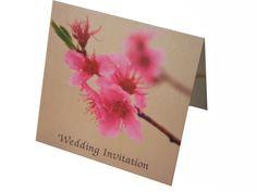 Oriental Cherry Blossom 15cm square pocketfold wedding invitation www.lilguy.co.uk