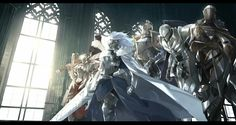 Fate/Grand Order || Knights of the Round Table || Artoria Pendragon (Lancer) || Mordred (Saber) || Gawain (Saber) || Lancelot (Saber/Berserker) || Tristan (Archer) || by @MONO73004236 on Twitter