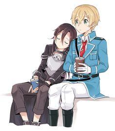 Sao Kirito And Asuna, Sao Ggo, Kirito Sword, Eugeo Sword Art Online, Asada Shino, Kingdom Hearts Anime, Sao Anime, Korean Anime, Anime Girl Neko