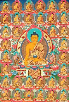 The Buddha Shakyamuni and 35 Confessional Buddhas