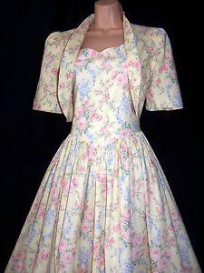 Laura Ashley Vintage Dresses | Details about Laura Ashley vintage vanilla rose garlands summer outfit ...