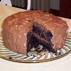 Pastel de chocolate con mousse de chocolate @ allrecipes.com.mx