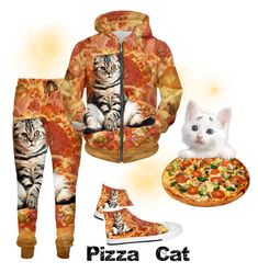 Designer Clothes, Shoes & Bags for Women Pizza Cat, Feeling Great, Vegetable Pizza, Cats, Polyvore, Clothes, Style, Fashion, Outfits