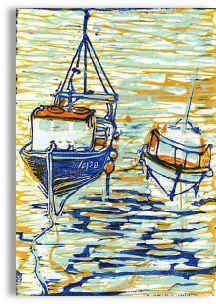 Waiting for the tide - lino cut print http://shoutout4370.wix.com/ltbl#!untitled/c1u7m