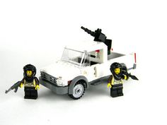 Bandit Mercenary Technical Gun Truck made with real LEGO(R) bricks