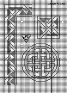 A. Celtic knotwork: double knot border, medium (21 high