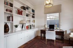 built -in bookcase
