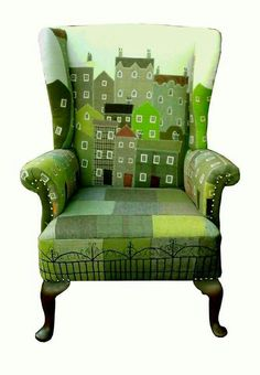 New Furniture Makeover Green Diy Projects Ideas, – Furniture 2020 Funky Furniture, Furniture Makeover, Painted Furniture, Furniture Design, Chair Makeover, Office Furniture, Poltrona Design, Patchwork Chair, Style Deco