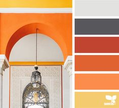 Wanderlust { color view } January 4 2018 image via: Orange Palette, Colour Pallette, Colour Schemes, Color Patterns, Color Combos, Color Trends, Pantone, Orange Rooms, Design Seeds