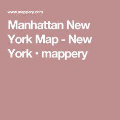 Manhattan New York Map - New York • mappery