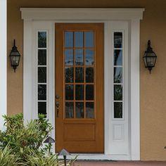 Therma tru pulse solei fiberglass door painted stop with for Therma tru fiber classic mahogany price