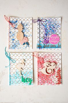 Boho mixed media cards with Michaels cards and powder pigments #madewithmichaels