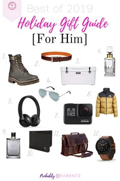 Holiday Gift Guide For Him - ProbablyParents Holiday Gift Guide, Holiday Gifts, Christmas Gifts, Gift Guide For Him, Gifts For Him, Toddler Gifts, Baby Gifts, Best Entrepreneurs, Amazing Gifts