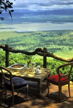 Lunch at the Ngorongoro Crater Lodge, Serengeti, Tanzania