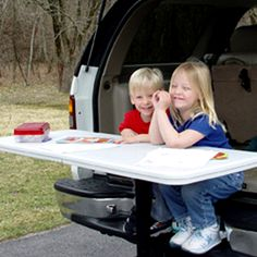 The Tailgate Table is perfect for family trips!