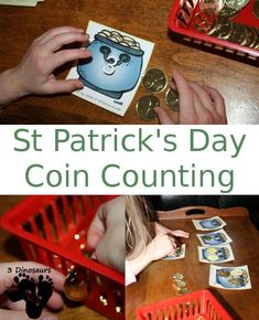 Free St. Patrick's Day Coin Counting Printable: Numbers 1 to 20 & coins - 3Dinosaurs.com