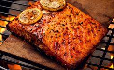 Cedar-Planked Salmon with Grainy Mustard Glaze » lesleystowe.com/blog