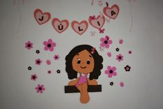 Ivanart Artes e Decorações: Decoração de festa de aniversário rosa e marrom, f...