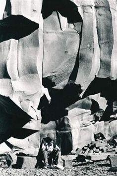 Fulvio Roiter (Italian)   Cave de Pietra Lavica sur L'Etna  Sicile  1953