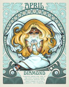 Want to discover art related to birthstones? Check out inspiring examples of birthstones artwork on DeviantArt, and get inspired by our community of talented artists. Virgo, Astrology Zodiac, Aquarius, Zodiac Art, Zodiac Signs, 12 Zodiac, Horoscope Signs, Art Nouveau, Canvas Prints