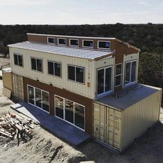 Build Container Home 761460249479675249 - What a difference a few weeks can make! Source by qubewwntbin Container Design, Cargo Container Homes, Building A Container Home, Container Cabin, Storage Container Homes, Container Store, Shipping Container Buildings, Shipping Container Home Designs, Shipping Containers