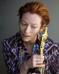 "Tilda Swinton and Oscar for ""Michael Clayton"""