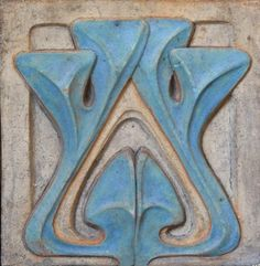 Alexander Bigot (Designed by Henri Sauvage). Art Pottery Tile. French Art…