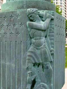 Male bas relief, art deco in Milwaukee by Paul McClure DC, via Flickr