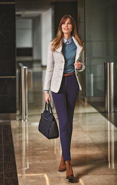 The collar clips that you put on while wearing Karaca knitwear and shirts will make you look sophisticated / Karaca trikolarıyla gömlekleri birlikte kullanırken taktığınız yaka tokaları sofistike görünmenizi sağlayacak #woman #karaca #womenstyle #autumn #winter #fresh #pants #look #shirt #basic #jean #dress #jacket #coat #classical #spor #stylish #style #elegant #design