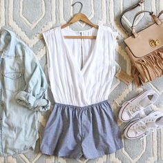 Sunny Valley Romper, Sweet Chambray Rompers from Spool No.72. | Spool No.72
