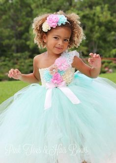 7fb107fd1e Flower girl dress-Mint Flower Girl Dress-Mint and pink Flower girl dress-The  Abigail