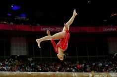 Alexandra Raisman of the United States competes in the in the Artistic Gymnastics Women's Team final