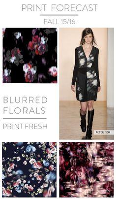 Printfresh - Blurred Floral Trend - Fall 15/16