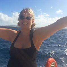"""The obligatory """"I'm on a boat"""" photo.  #Escape2Martinique"""