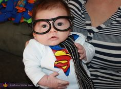 Carolyn: My son was born on September 26, 2012. His actual name is Clark. For his first Halloween, I wanted him to go as Clark Kent because he is my little...