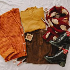 Outfit Of The Day, Berry, Merry Christmas, Cute Outfits, Men Sweater, Aga, Skirts, Layouts, Sweaters