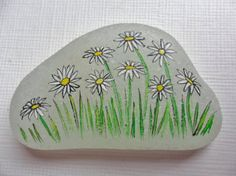 Daisies in the grass  Wildflower sea glass miniature by Alienstoatdesigns, $12.75