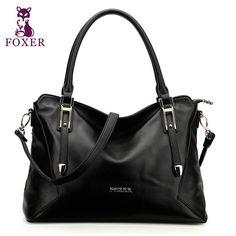 FOXER 2018 women leather handbag fashion shoulder bags 100% genuine leather totes ladies wristletes corssbody bag High quality