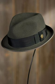 Guido Delgado Goorin Brothers Wool Fedora Hat by Overland Sheepskin Co. (style I love the color of this hat. Mens Dress Hats, Gentleman Hat, Classic Hats, Western Hats, Stylish Hats, Hats Online, Cool Hats, Hats For Men, Men's Hats