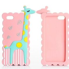 Pink animal IPhone 5,5s,5c case. Pink iPhone 5, 5s,5c giraffe cell phone case. I bought because it was really cute but I found myself rarely using it! I received many compliments on it and would like to see this case with someone who thinks this is as cute as I did when I bought it. First photo is just the stock photo I took from the Internet. Other two photos are my photos. Accessories Phone Cases