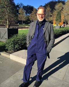 Instagram media by brucepask - Workwear Friday! Loving my new coveralls. I wore them with a tailored jacket to feel a little more buttoned up for business. 📸 @tanakaomi