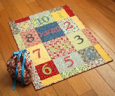 Everyday Celebrations: Tutorial: jump. hop. count. {a number playmat}