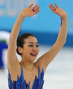 Mao Asada (Sochi FS) 〔五輪・フィギュア〕フィギュアスケート女子フリーの演技を終え、手を振る浅田真央=20日、ロシア・ソチ【時事通信社】