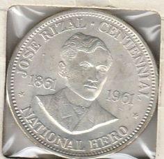 Philippines Peso, Anniversary Birth of Dr. Jose Rizal for sale online Filipino Quotes, Philippine Peso, Jose Rizal, Silver Coins, Philippines, Asia, Australia, Silver Quarters