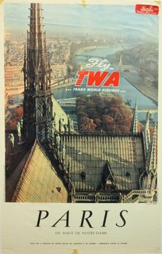 TWA Paris travel poster