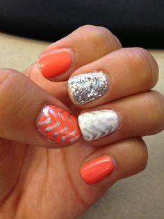 Gelish, chevron print