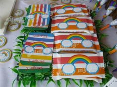 Favors at a Rainbow Party #rainbow #partyfavors